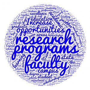 Word cloud highlighting Academic feedback collected during the Town Hall Meeting on Aug. 29, 2016.